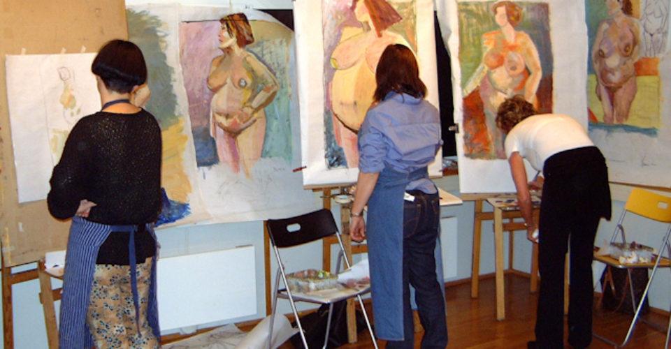 Tegning og maling etter levende modell