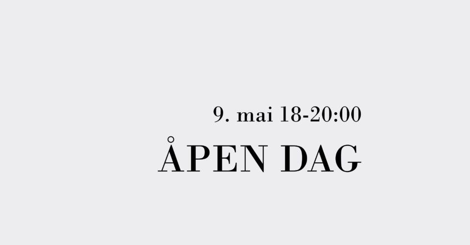 Velkommen til Åpen Skole 9. mai