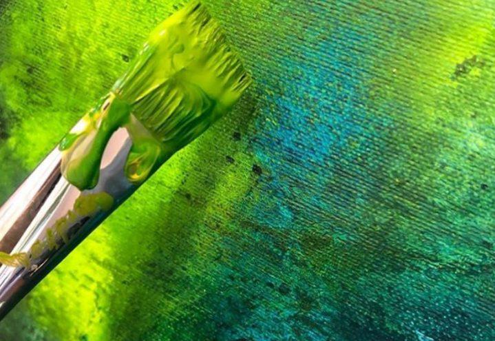 6 Karusell Grønn maling