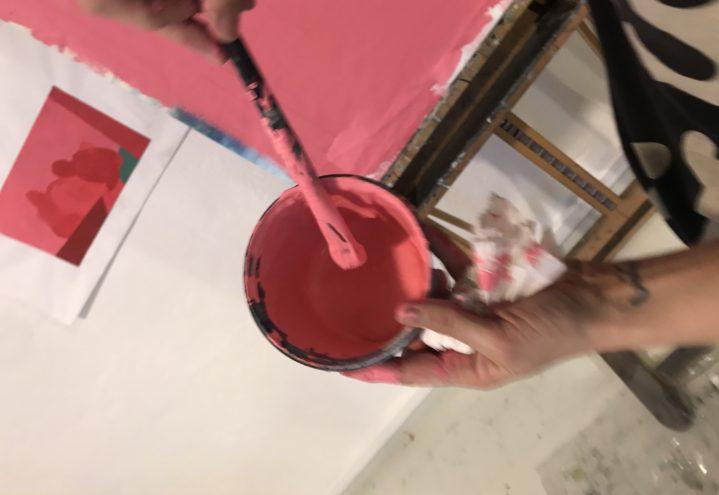 7 Karusell Rød maling